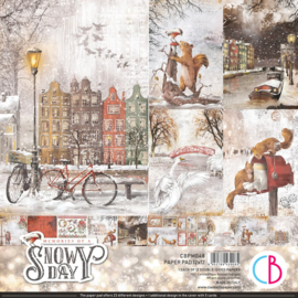 Ciao Bella -Memories of a Snowy Day -PaperPad 30.5x30.5 cm CBPM048