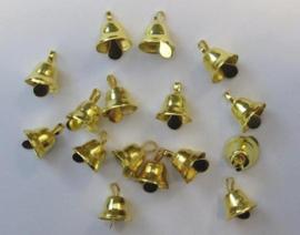 Klokjes goudkleur  11 mm   16 ST   -   801400/4412
