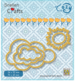 Nellie Crafts Cozy Dies - Sun & clouds - SCCOD018