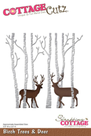 CottageCutz Birch Trees & Deer CC-175