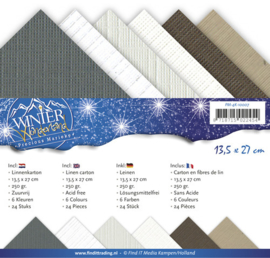 Linnenpakket - Vierkant - Precious Marieke - Winter Wonderland