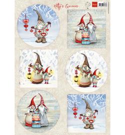 Marianne Design - A4 Knipvel Hetty -  Winter gnomes - HK1707