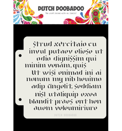 Dutch Doobadoo Mask Art -  Script  -  470.715.152