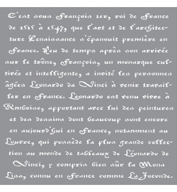 Americana Decor Stencils Old French Script ADS10