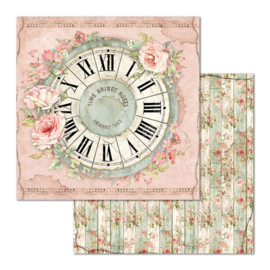 Stamperia - House of Roses - Paper - 30,5 x 30,5 cm - Clock