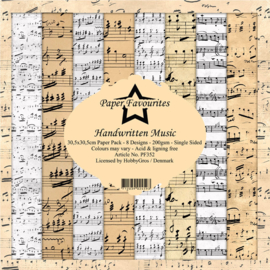 Paper Favourites - Handwritten Music - 30,5 x 30,5 cm