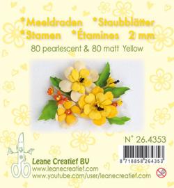 Leane Creatief - Meeldraden Matt & Pearl -  Yellow