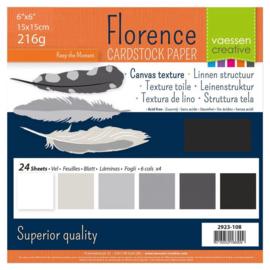 Florence - Cardstock Linnen 15 x 15 cm - 24 vel