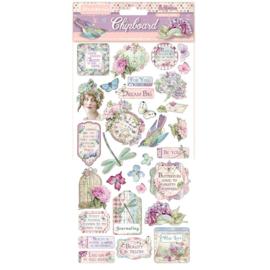 Stamperia - Hortensia - Chipboard