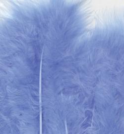 Veren Marabou  Blue 15 stuks