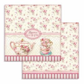 Stamperia - Sweety - Paper - 30,5 x 30,5 cm. - Cup of Tea