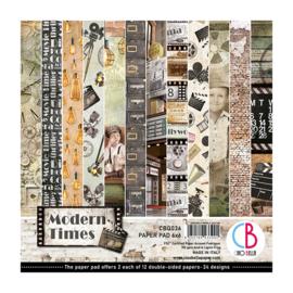 Ciao Bella - Modern Times  - Dubbelzijdig Paper pad 15 cm x 15 cm.. - CBQ036