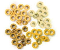 We R Memory Keepers • Standard eyelets Yellow 60pcs