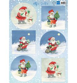 Marianne Design - A4 Knipvel Hetty - Santa's - HK1704