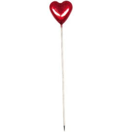 Halbach Deco Pins -Heart Red