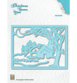 Nellie Christmas Scene Dies - Moonlight winternight - 	CRSD007