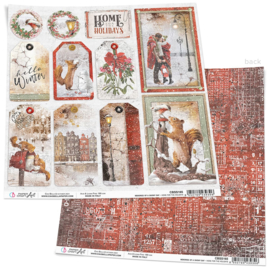 Ciao Bella -Memories of a Snowy Day-Home for the Holidays - 30.5 x 30.5 cm CBSS165
