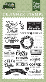 Echo Park - Coffee & Friends Clear Stamps