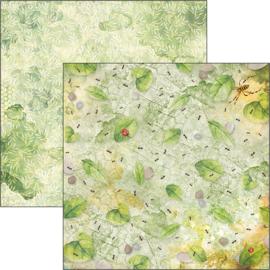 Ciao Bella - Microcosmos - Dubbelzijdige patronen pad 30,5 cm x 30,5 cm. - CBT037