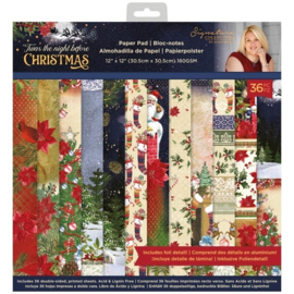 Crafter's Companion Twas the Night Before Christmas - Paper Pad - 30.5 x 30.5 cm