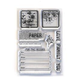 Elizabeth Craft Design - SIDEKICK - Clearstamps - Paper Love-CS214