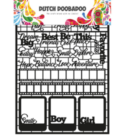 Dutch DooBaDoo - Paper Art - A5 - Teksten - 472.950.006