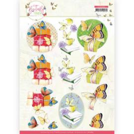 Knipvel - Jeanine's Art - Butterfly Touch - Yellow Butterfly