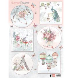 Marianne Design A4 Knipvel - Summer Dreams  EWK1261