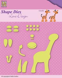 Nellie Snellen Shape Dies - Baby opbouw Giraffe SDL030