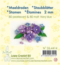 Leane Creatief - Meeldraden Matt & Pearl -  Navy Blue