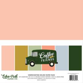 Echo Park - Coffee & Friends Design Papier - 30,5 x 30,5 cm.