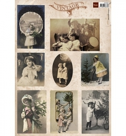 Marianne Design Tiny's Vintage Christms Cards 1 VK9537