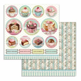 Stamperia - Sweety - Paper - 30,5 x 30,5 cm. - Mini Cakes Rounds