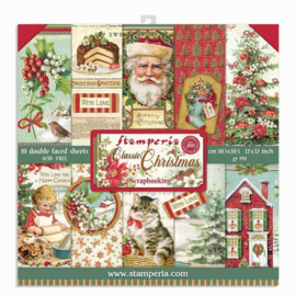 Stamperia - Classic Christmas - Paperpad 30,5 x 30,5 cm