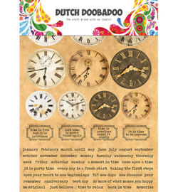 Dutch DooBaDoo - Sticker Art - A5 - Clocks  - 491.200.003