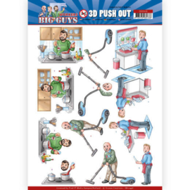 3D Push Out - Yvonne Creations - Big Guys - Workers - Big Cleaning