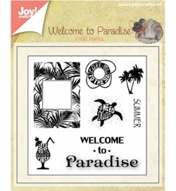 Joy! Crafts Clear Stamps Welcome to Paradise 6410/0398