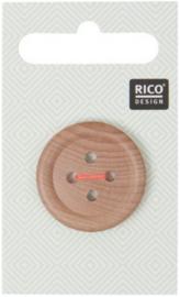 Rico Design Houten Knoop met Rand 2,6 cm