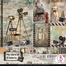 Ciao Bella - Modern Times - Dubbelzijdig Paper pad 30,5 cm x 30,5 cm. - CBPM036