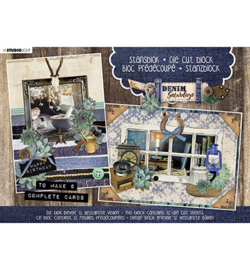 Studio Light Stansblok  Die Cut  A5 -  Denim Saturdays -  nr. 27