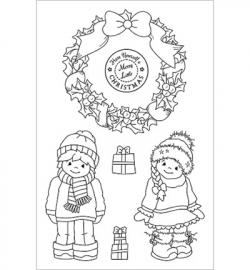 Cuddly Buddly Clear Stamps Merry Little Christmas CBS0007
