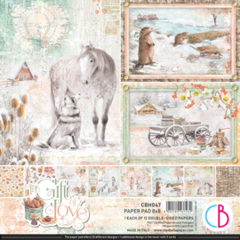 Ciao Bella - The Gift of Love -PaperPad- 20.3 x 20.3 cm - CBH047