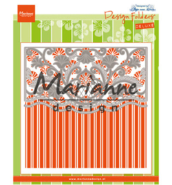 Marianne D Embossing folder + Die -  Anja's ornamental border - DF3443
