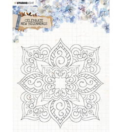 SL Clear Stamp background Celebrate new beginnings nr.519