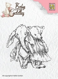 Nellie`s Choice Clearstamp - Baby Cuddles Cuddly friends CSBC005