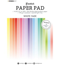 Studio Light - Paper Pad Double sided Gradient White fade Essentials nr.21