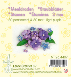 Leane Creatief - Meeldraden Matt & Pearl -  Light Purple