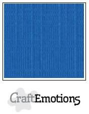 CraftEmotions linnenkarton 10 vel  Signaalblauw  30,5x30,5cm