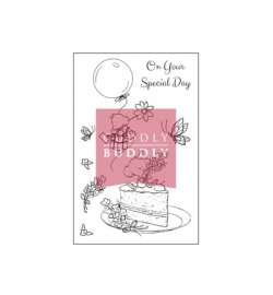 Cuddly Buddly Clear Stamps Tiny Mouse Celebrates CBS0020