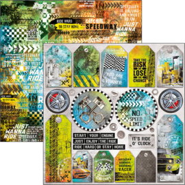 Ciao Bella - Start your Engines - Dubbelzijdig papier vel 30,5 cm x 30,5 cm -CBSS097